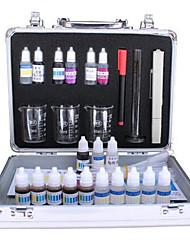 kit de teste de qualidade da água (TDS qualidade da água caneta de teste que contém cloro, cálcio e magnésio ph reagente)