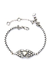 Bohemian Rhinestone Chain Bracelets Golden Rhinestone Bracelet Fashionable Geometric Alloy Jewellery