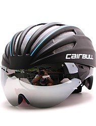 Bike HelmetUnisex Full-Face Bike helmet 28 Vents Cycling Road Cycling One Size PC / EPS White Visor Adjustable