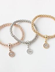 Damen Ketten- & Glieder-Armbänder Modisch Zirkon Aleación Runde Form Gold/Silber Schmuck Für 1 Set