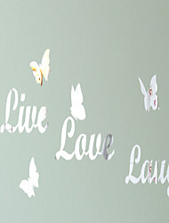 3D Wall Stickers DIY Wall Stickers Mirror Wall Stickers Words & Quotes Wall Stickers Acrylic Butterfly Decals Home Decor