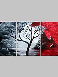 Ručně malované Abstraktní olejomalby,Tradiční Tři panely Plátno Hang-malované olejomalba For Home dekorace