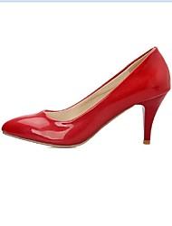 Women's Shoes PU Summer / Fall / Winter Heels Boots Dress / Casual Kitten Heel Others Red / Silver