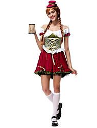 Disfraces Más Vestidos / Oktoberfest / Disfraces romanos Navidad / Carnaval / Año Nuevo Rojo tinto / Azul y Amarillo Un Color Terileno