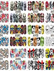 Nail Art prego etiqueta Pontas de Unha Completa / Jóias de Unhas