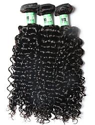 Brazilian Virgin Hair Deep Curly 3 Bundles Grade 7A Unprocessed Virgin Human Hair Weave Extensions
