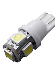 50 piezas blanco estupendo cuña T10 5 SMD 5050 llevó la luz de las bombillas W5W 2825 158 192 168 194
