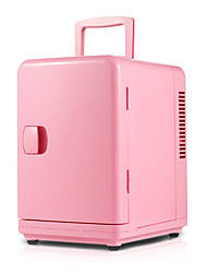 6l mini refrigerador de doble uso de color rosa
