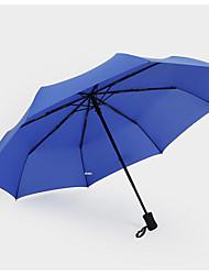 Rojo / Negro / Azul Paraguas de Doblar Soleado y lluvioso textil Viaje / Lady / Hombre