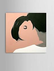 Ручная роспись Абстракция / Люди / Абстрактные портреты / фантазия Картины маслом,Modern / Пастораль / Европейский стиль 1 панель Холст