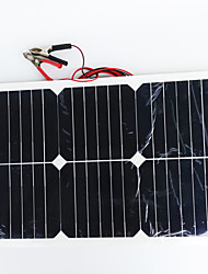 zdm® 20w 12v de saída 1.35A silício monocristalino painel solar (dc12-18v)