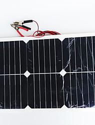 zdm® 20w 12v Ausgang 1.35a monokristallinem Silizium Solarpanel (DC12-18V)