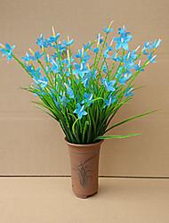 1 1 Филиал Пластик Орхидеи Букеты на стол Искусственные Цветы 19.6inch/50cm