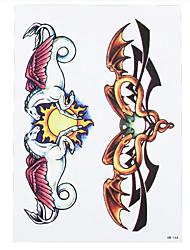 1pc Bead Pegasus Wing Sun Snake Choker Decal Waterproof Temporary for Women Body Hand Art Tattoo Sticker HB-164