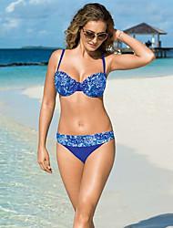 De las mujeres Bikini-FloralBandeau-Poliéster