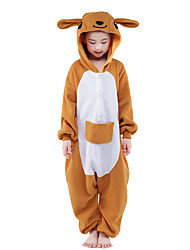 kigurumi Pyjamas New Cosplay® Kangourou Collant/Combinaison Fête / Célébration Pyjamas Animale Halloween Orange Mosaïque vison de velours