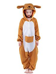Kigurumi Pijamas New Cosplay® / Canguru Malha Collant/Pijama Macacão Festival/Celebração Pijamas Animal Amarelo Miscelânea Mink Velvet