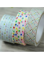 Color Dot / Line Christmas Series Of Decorative Tape