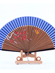 Brown Fan Frame Printing Fan Random Pattern(Set of 1)
