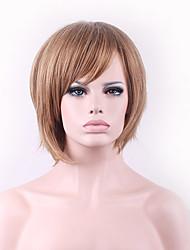 les nouveaux cos perruque mélange de couleur brune courte 8 pouces