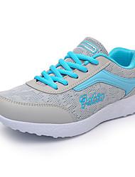 Da donna-Sneakers-Casual-Comoda-Piatto-PU (Poliuretano)-Rosa / Bianco / Grigio