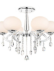 Max 40W Chandelier ,  Modern/Contemporary Electroplated Feature for Crystal Metal Living Room / Dining Room