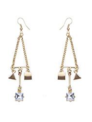 Brinco Triangular Jóias 1 par Fashion Diário Liga Feminino Dourado