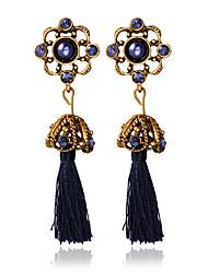 Autres Bijoux Femme Gland Mariage Alliage 1 paire Bleu foncé