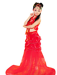 Costumes Mermaid Tail Halloween / Christmas / Carnival / Children's Day Red / Golden / Blue Vintage Dress
