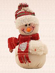 1pc bege pingente de boneco de neve árvore de Natal pingente de decoração para casa e jardim outdoor partido