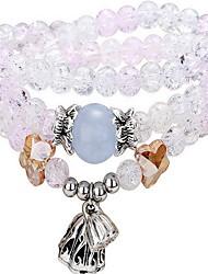 Black/White Gem Stone Strand Bracelet(56cm)