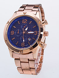 Men's Dress Watch / Quartz Alloy Rose Gold Plated Band Casual Rose Gold