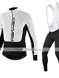 KEIYUEM®Spring/Summer/Autumn Long Sleeve Cycling Jersey+Long Bib Tights Ropa Ciclismo Cycling Clothing Suits #L96