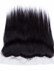 "Lace Frontal Closures 13""x4 Brazilian Silk Straight Virgin Human Remy with Baby Hair"