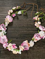 Femme Tissu Casque-Mariage Couronnes 1 Pièce Rose Fleur 50cm