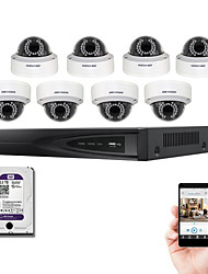 hikvision® ds-7608ni-E2 / 8p kit NVR 8ch PoE con 8pcs ds-2cd2135f-è 3.0MP cupola IP Camera e 2TB HDD