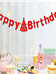 Happy Birthday birthday party banner layout of old baby Lahua decorative props suppliesy