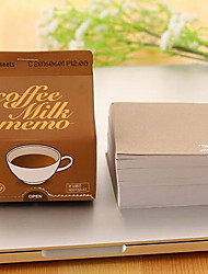 Milk Cartons Extracting Sticky Compact Portable Coffee Milk Memo Creative Paper Notes (Random Color)