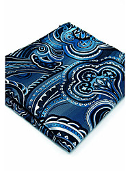 100% Silk Dark Blue Floral New Men's Pocket Square For Men Handkerchief Dress Business Jacquard Woven