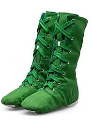 Customizable Women's Dance Shoes Canvas Canvas Jazz / Dance Sneakers Boots / Sneakers Low Heel Beginner