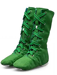 Aanpasbaar-Dames-Dance Schoenen(Zwart / Groen / Rood / Wit) - metLage hak- enJazz / Danssneakers