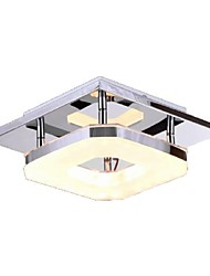 Flush Mount ,  Modern/Contemporary Electroplated Feature for LED Metal Living Room Bedroom Dining Room