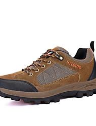 Зеленый / Серый / Светло-коричневый-Мужской-Для занятий спортом / На каждый день-Ткань / Тюль-На плоской подошве-Удобная обувь / На
