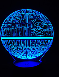 Star Wars Touch Dimming 3D LED Night Light 7Colorful Decoration Atmosphere Lamp Novelty Lighting Christmas Light