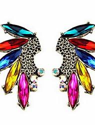 Women's Colorful Rhinestone Stud Earrings