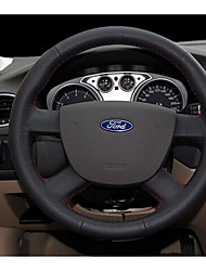 Hand-Stitched Leather Steering Wheel Cover Environmental Non-Toxic And Non-Irritating Odor Slip Feel Comfortable