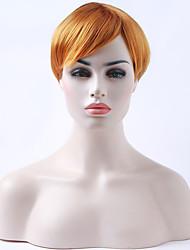 Mujer Pelucas sintéticas Sin Tapa Liso Naranja Peluca de Halloween Peluca de carnaval Peluca natural Las pelucas del traje