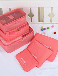 viajar dobrar saco contendo bolsa para guardar bolsa de saco e roupas, e seis pedaços de saco