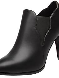 Черный-Женский-Для офиса / На каждый день / Для вечеринки / ужина-Синтетика-На шпильке-На каблуках-Обувь на каблуках