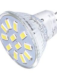 3 GU4(MR11) Lâmpadas de Foco de LED MR11 12 SMD 5733 250 lm Branco Quente / Branco Frio Decorativa 30/9 V 1 pç